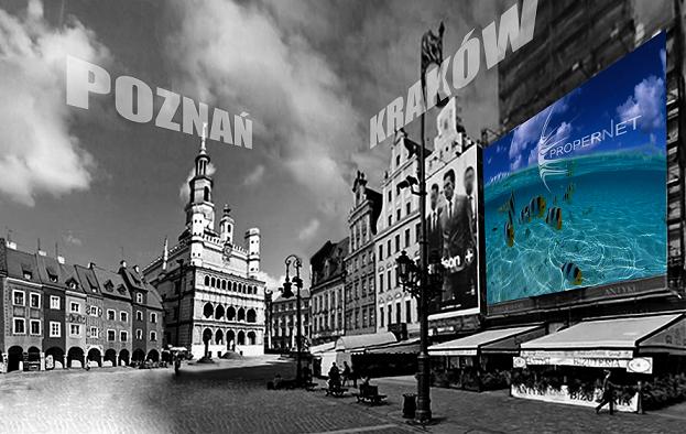 Wielkoformatowe siatki reklamowe outdoor Warszawa Wrocław Poznań Kraków Łódź Gdańsk