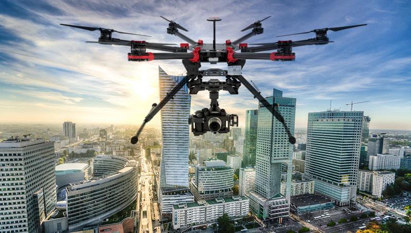 filmy reklamowe dronem warszawa